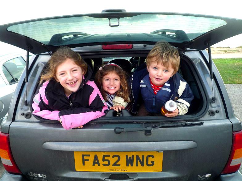 Happy road trip kids