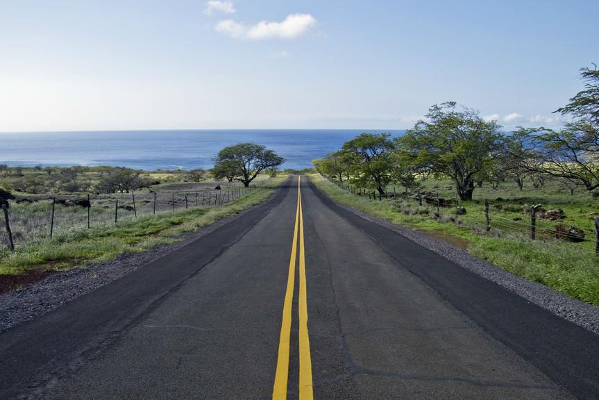 Scenic Road in Kapaa, Hawaii