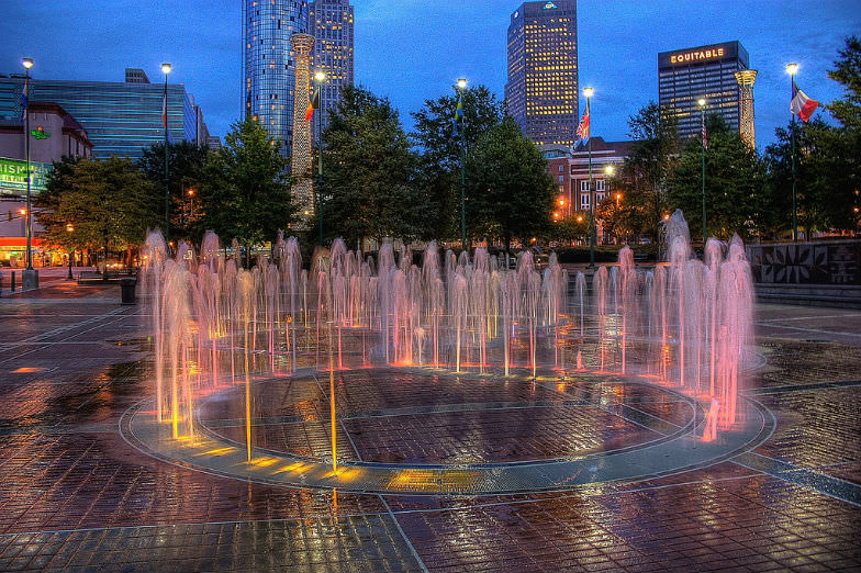 Fountains at the Centennial Park