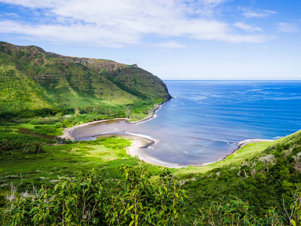 Molokai's Halawa Bay in Hawaii