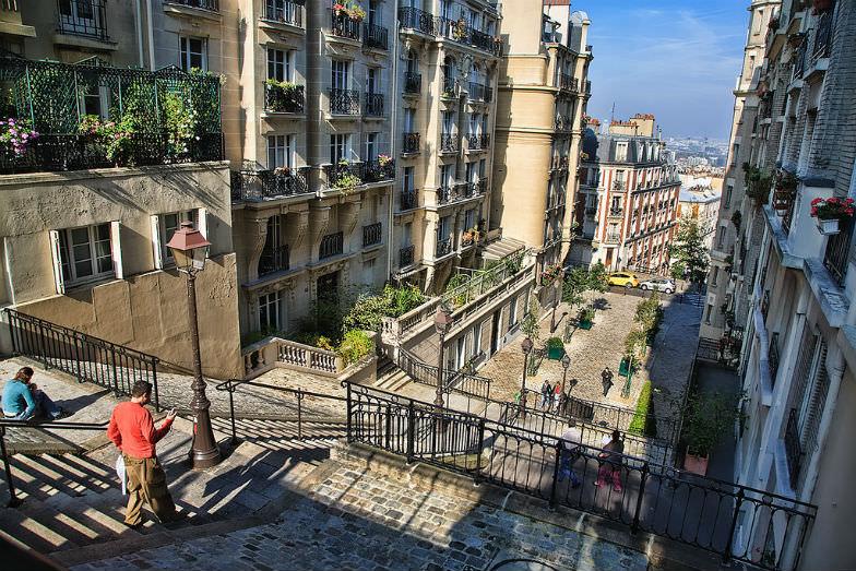 Steps in Montmartre