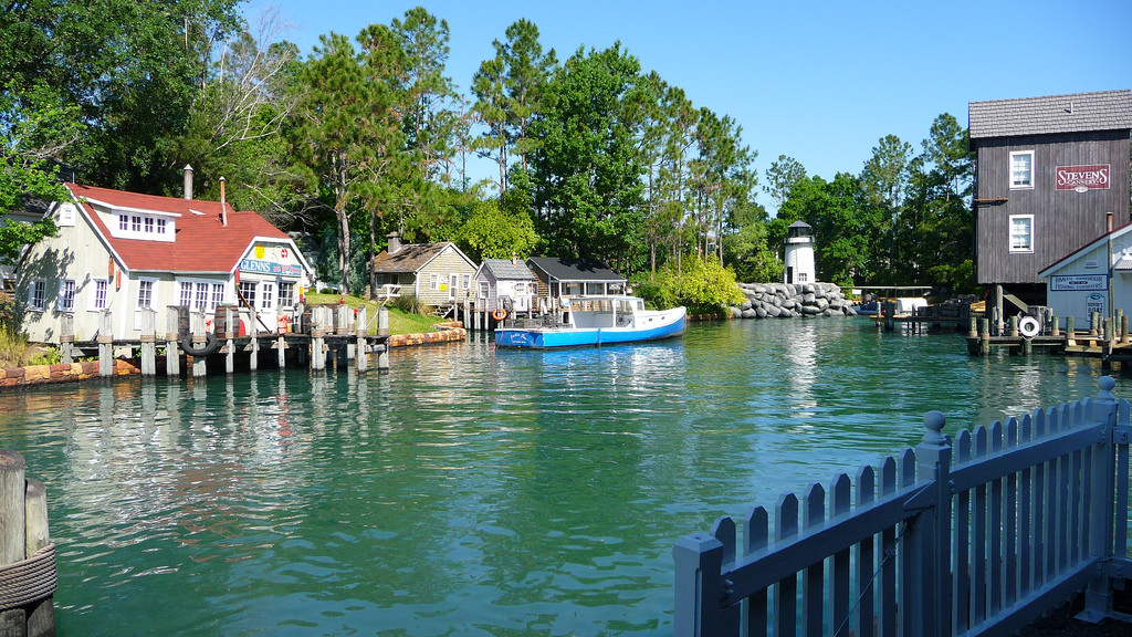 Universal Orlando and one of its water taxis