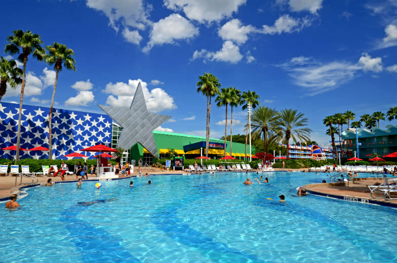 Relax by the pool at one of Disney's resorts during your visit.