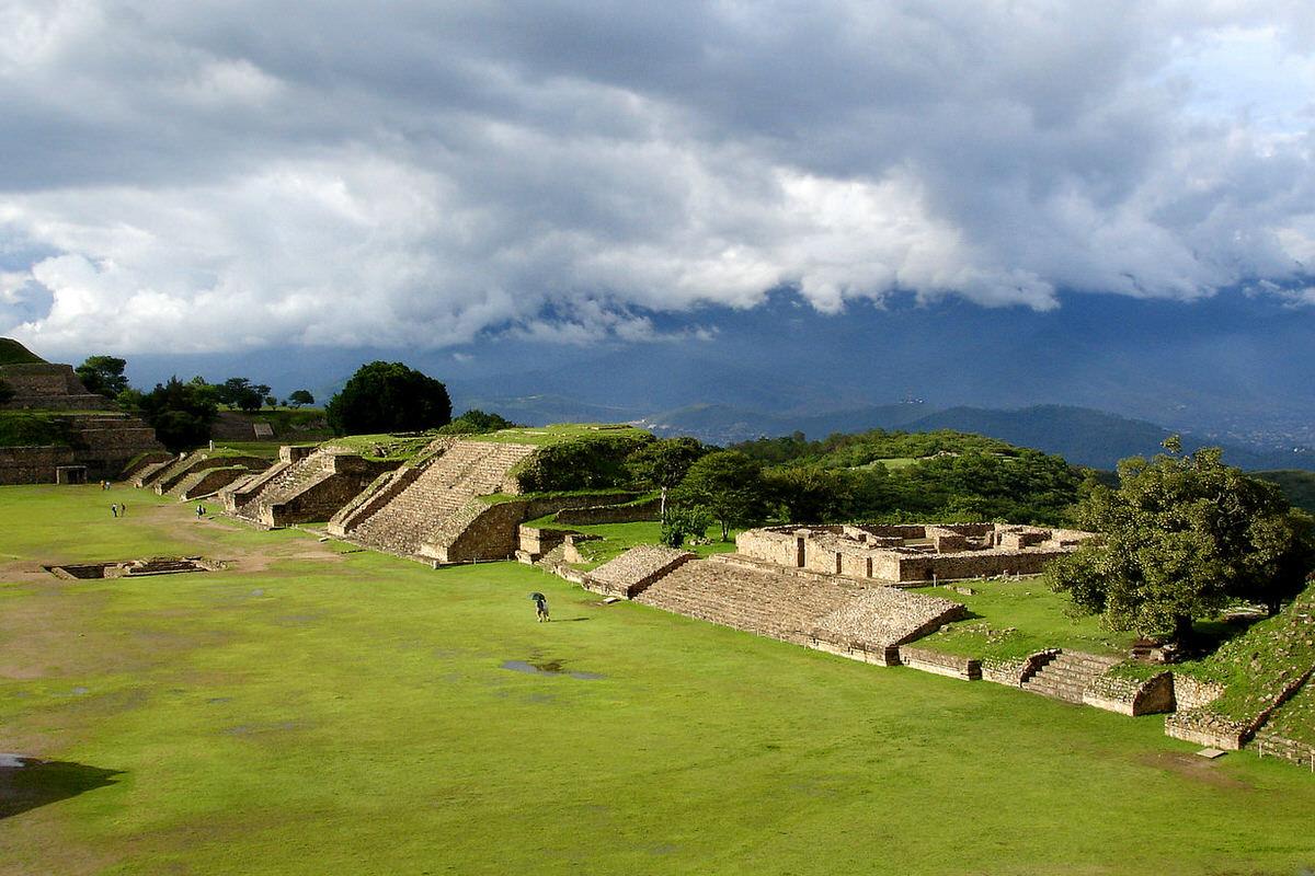Monte Alban in Oaxaca, Mexico