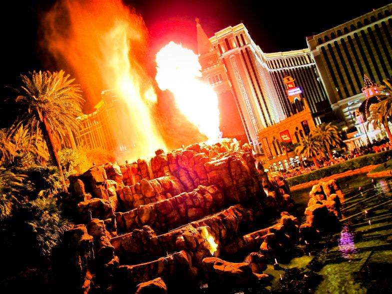 Mirage's Volcano show