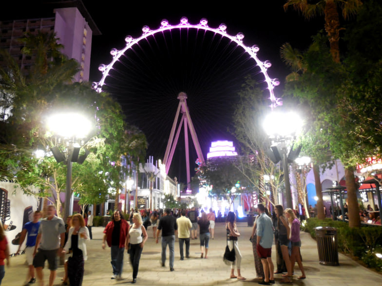 The High Roller Observation Wheel on the Vegas Strip