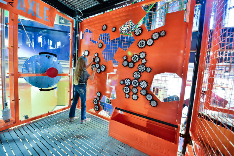 Solve puzzles at the Discovery Children's Museum