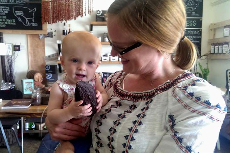 Mom and daughter at ChocoVivo
