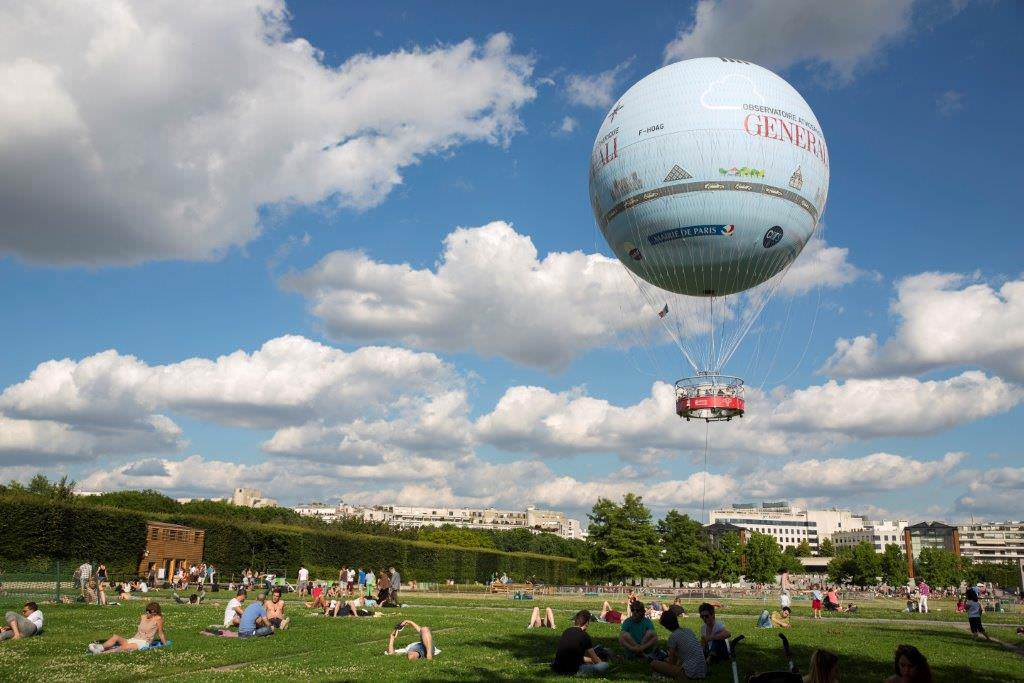 Get a spectacular panoramic view of Paris aboard Ballon de Paris
