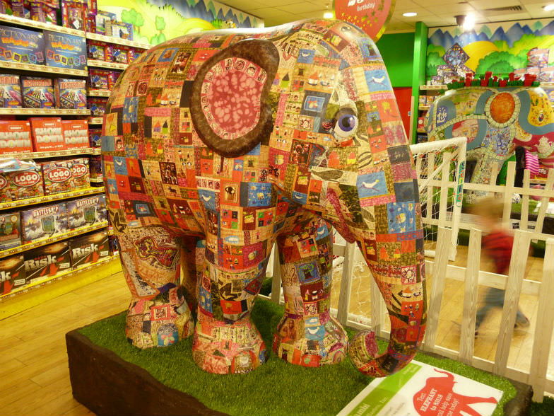 Inside Hamley's Toy Store
