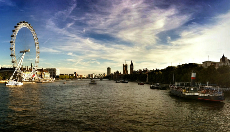 View along the River Thames