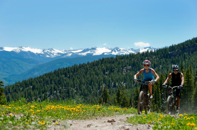 Biking is one of the many summer activities in Snowmass.