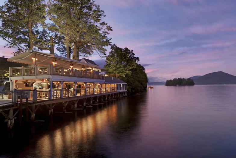 Sagamore Resort at dusk