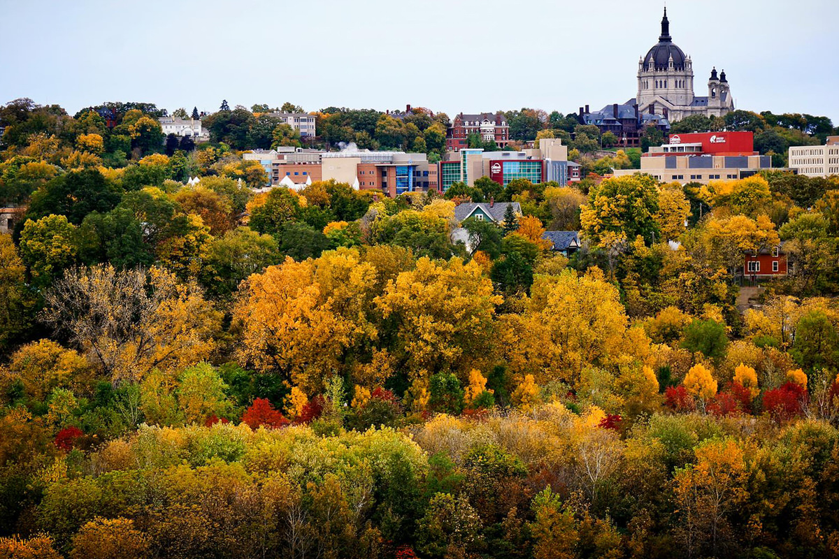 Saint Paul in the fall