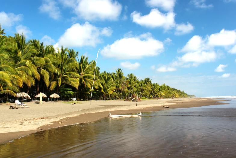 Family-friendly beach in Costa Rica