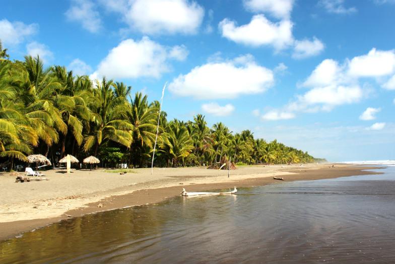 Family-friendly beach in Costa Rica