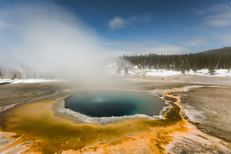Crested Pool in Yellowstone National Park