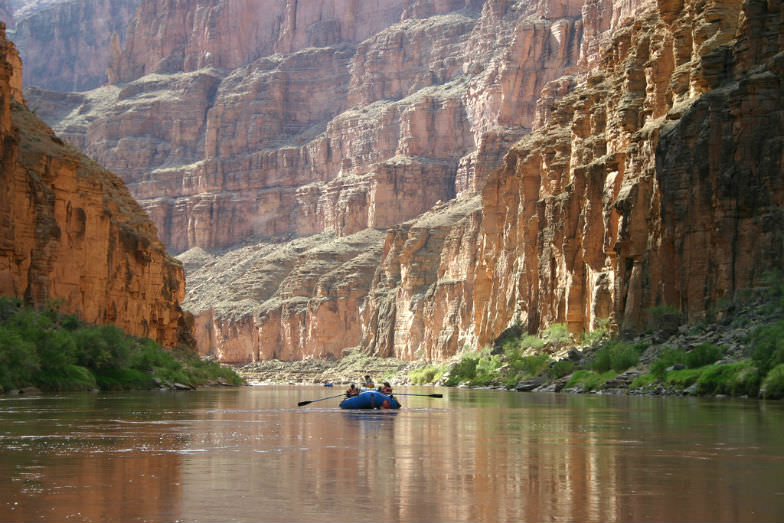 Colorado River boating in the Grand Canyon National Park