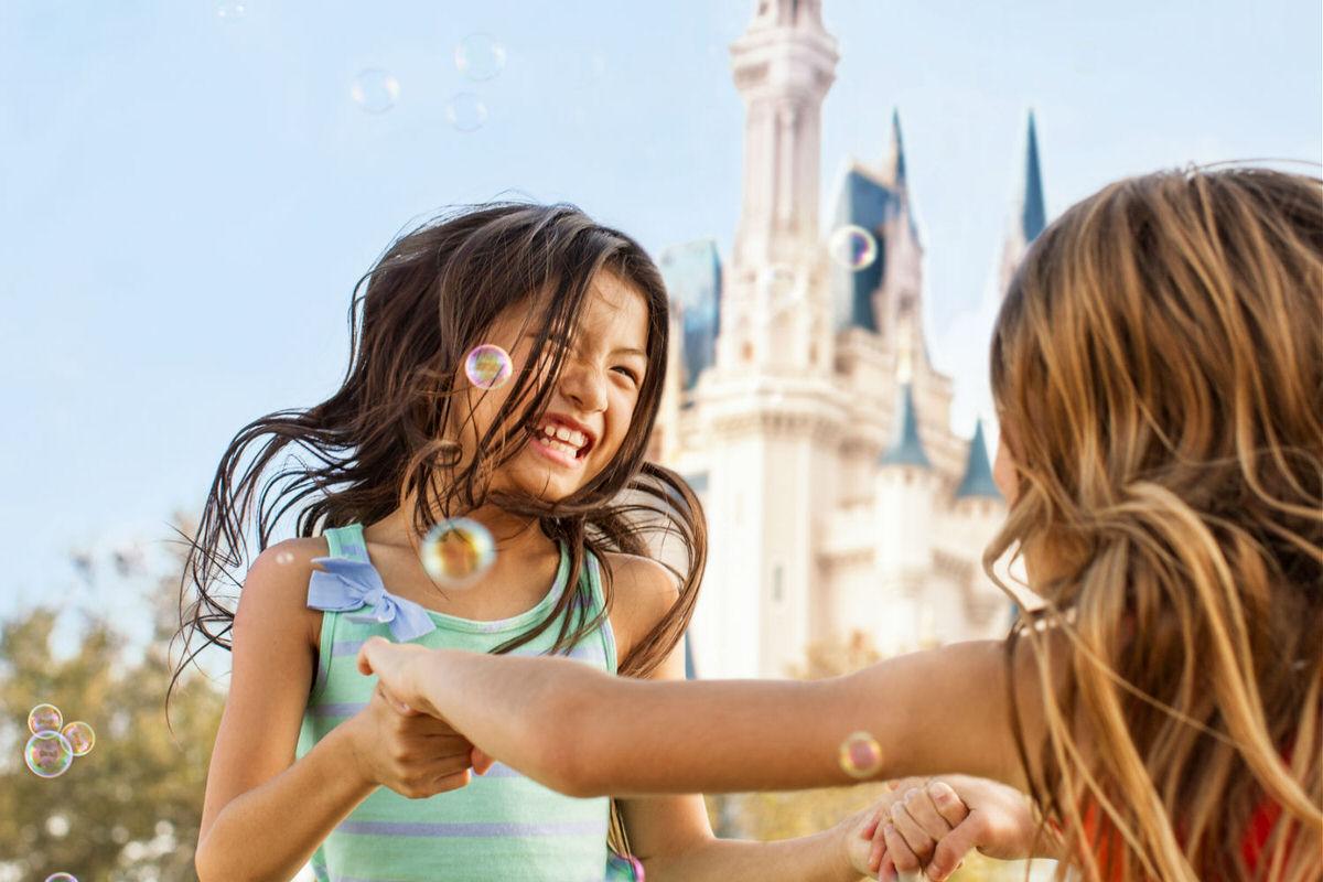 Little girl at Magic Kingdom