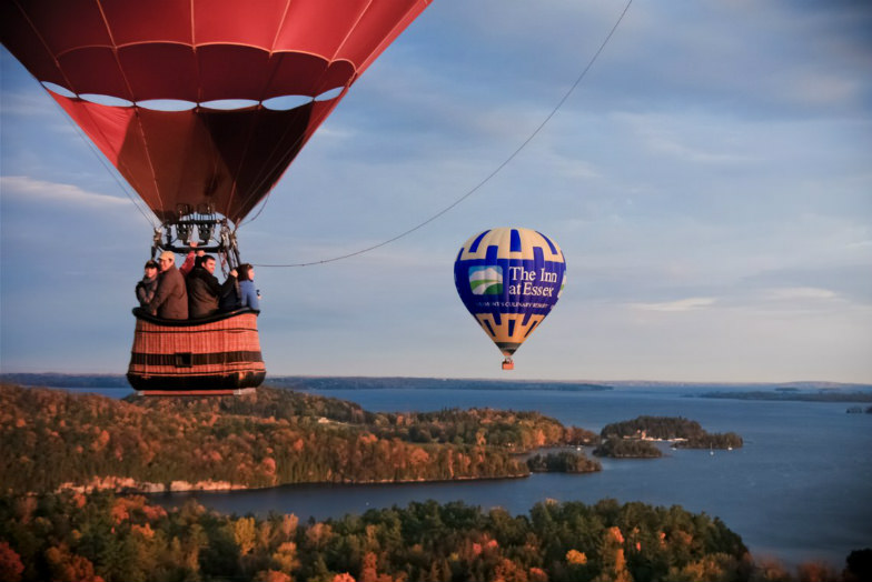 Flying over Vermont with Above Reality Hot Air Balloon Rides