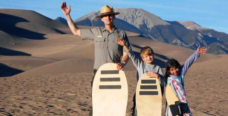 best sandboarding and sand sledding
