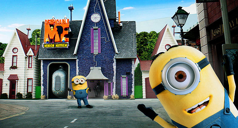 Minions Mayhem at Studio tour at Universal Studios