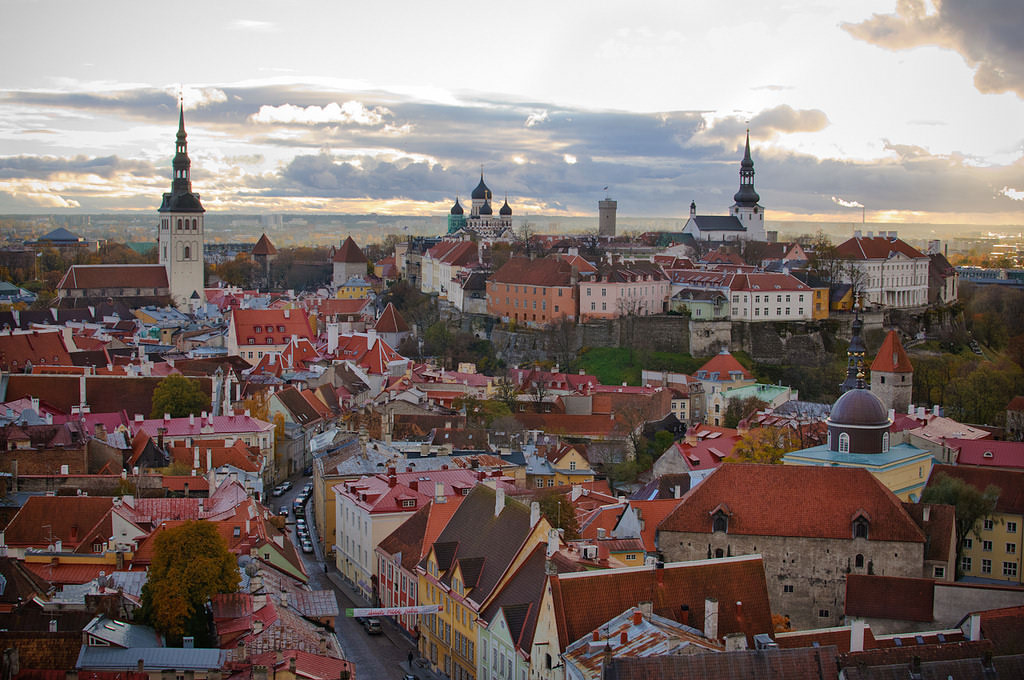 St. Olaf's Church tower in Tallinn, Estonia