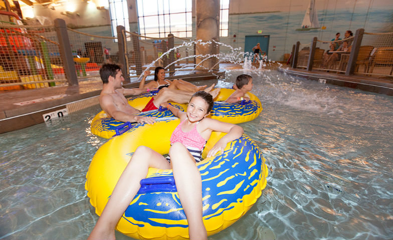 Waterslide at Great Wolf Lodge New England
