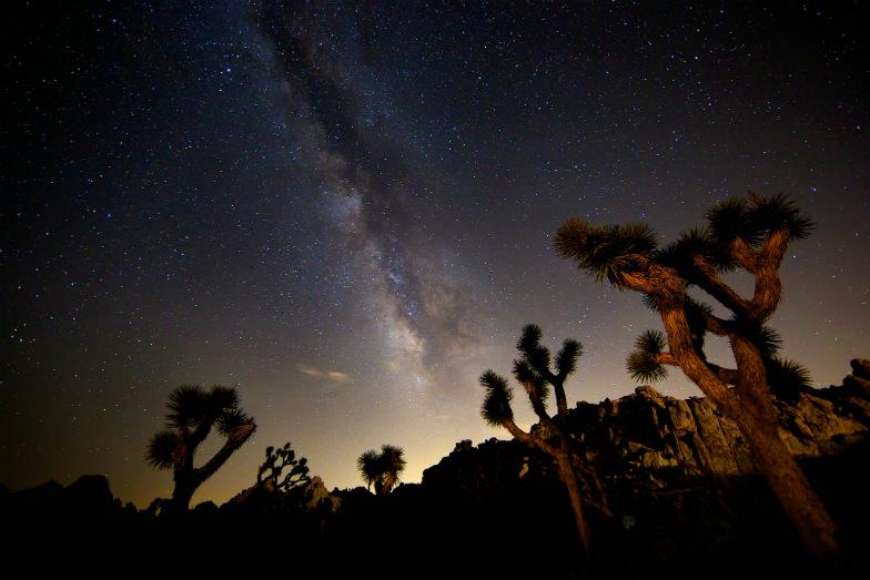 Milky Way over California