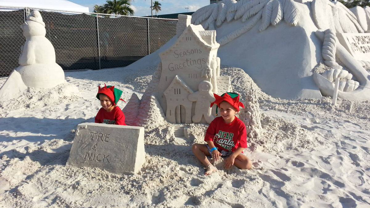 Kids at the American Sand-Sculpting Championship in Fort Myers, FL