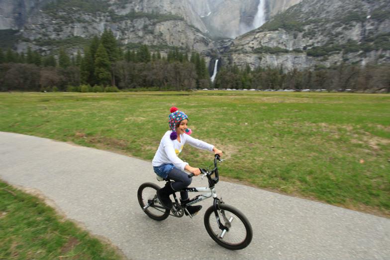 Pedaling in Yosemite