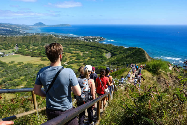Hiking Diamond Head is one of the best outdoor activities in Hawaii for families with kids.