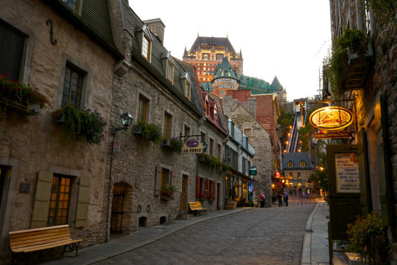 Very French street in Old Quebec