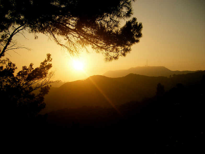 Watch the sunset on the Hollywood Hills with Bikes and Hikes