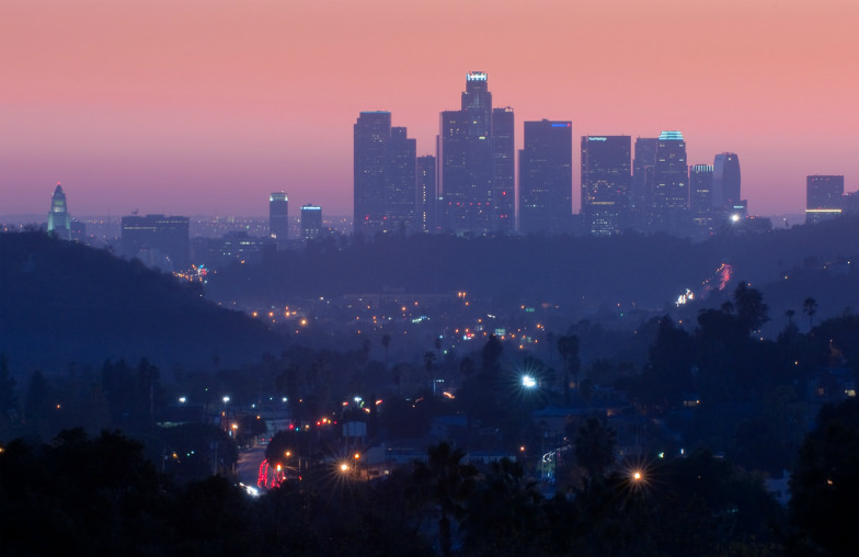 Los Angeles at dusk