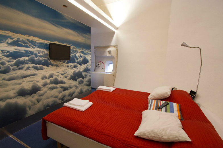 Experience how it's like to sleep comfortably in an airplane.