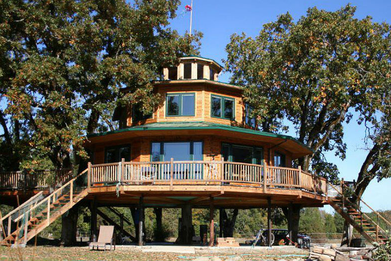 One of the tree houses at Out'n'About Treehouse Treesort LLC.