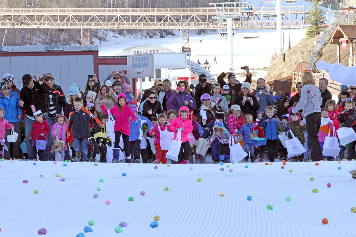 Egg hunt at Park City Mountain Resort