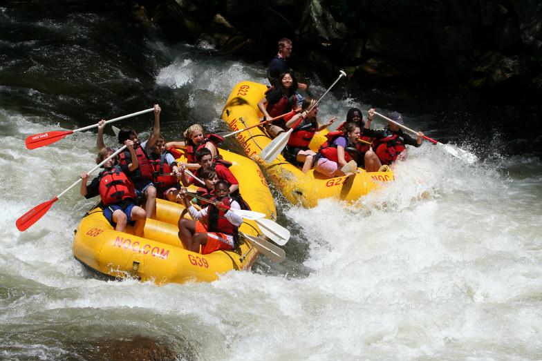 Rafting in the Nantahala River in North Carolina