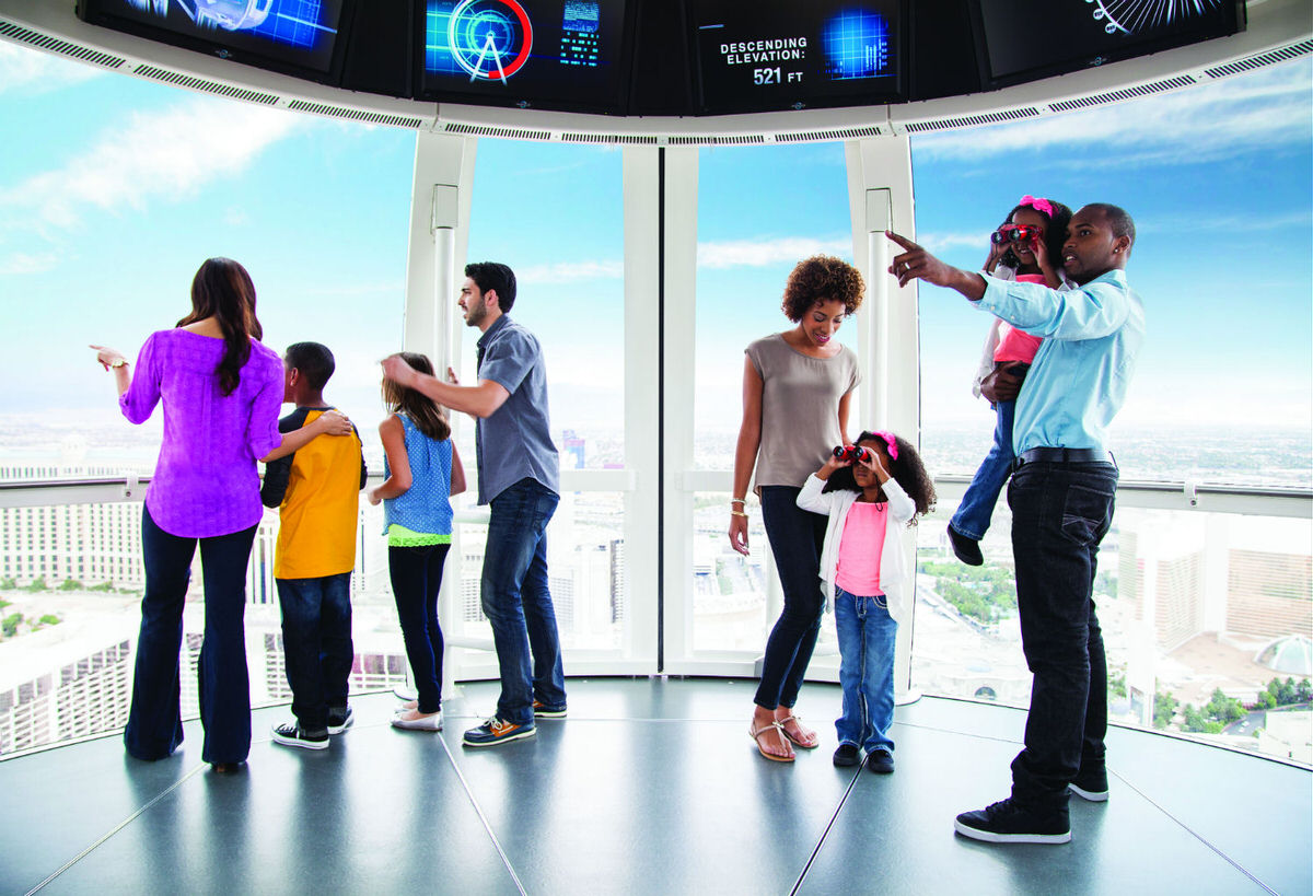 Families in one cabins on the High Roller