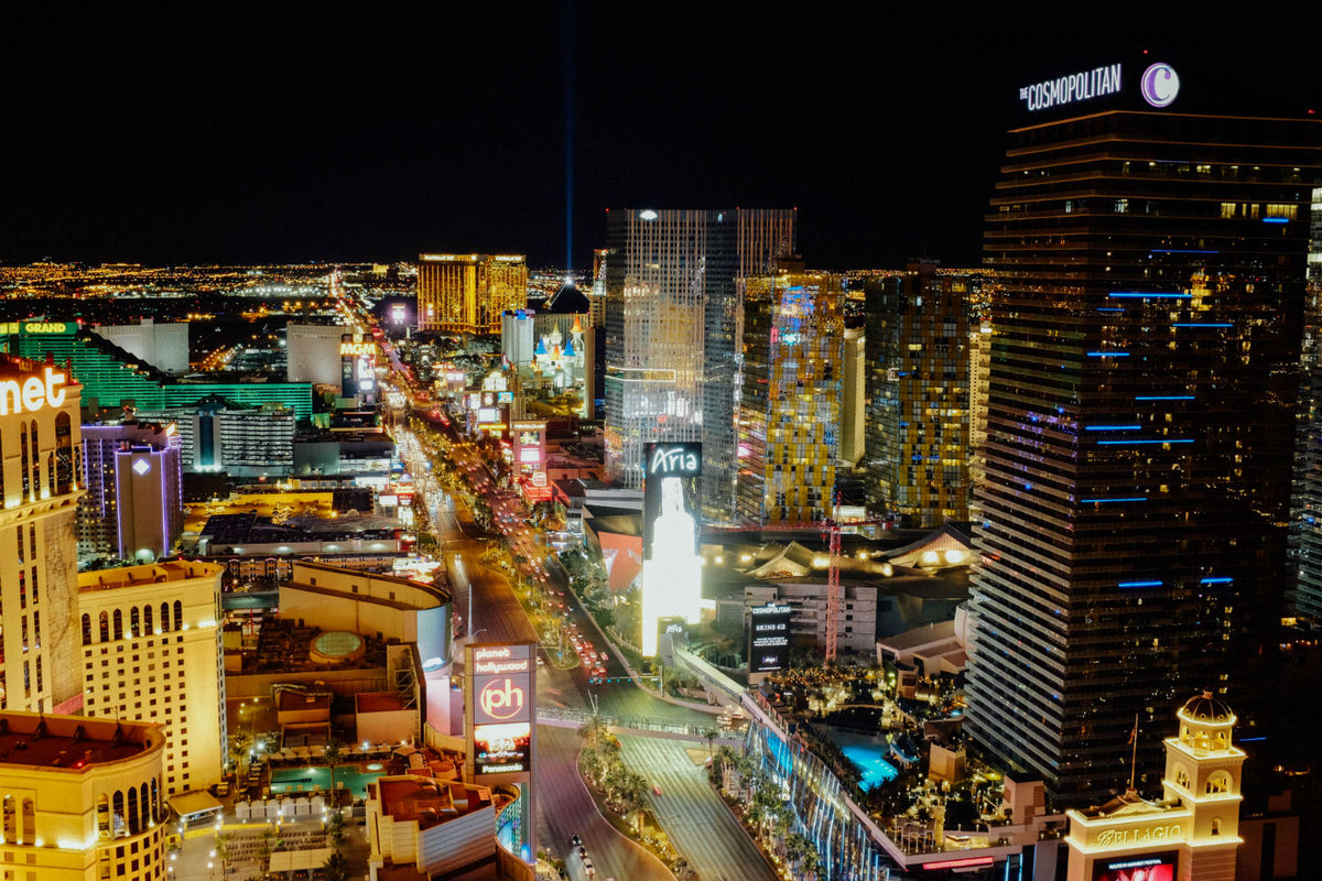 Las Vegas view from the Eiffel Tower Experience