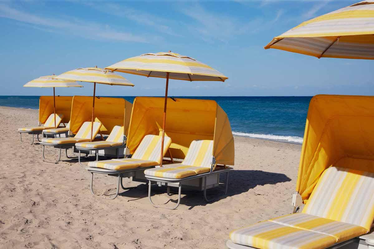 Private beach at the Boca Raton Beach Club