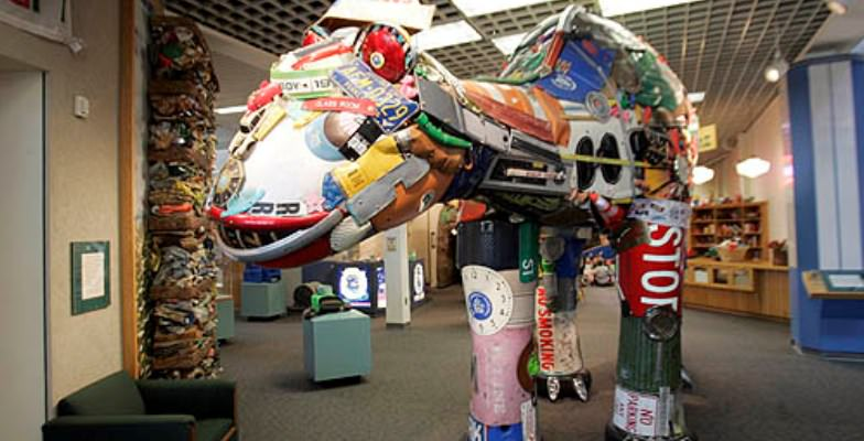 wacky museums: Trash Museum