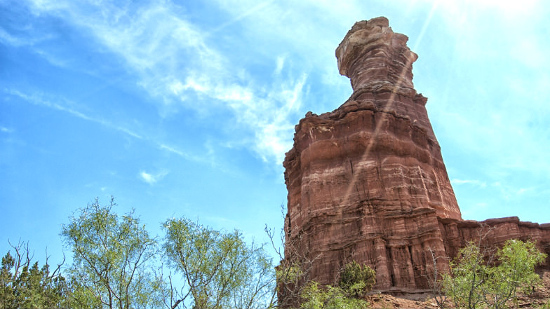 Rock formation at Palo Duro Canyon State Park
