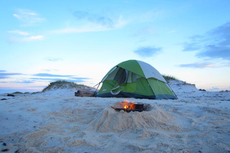 Campsite at Gulf Islands National Seashore