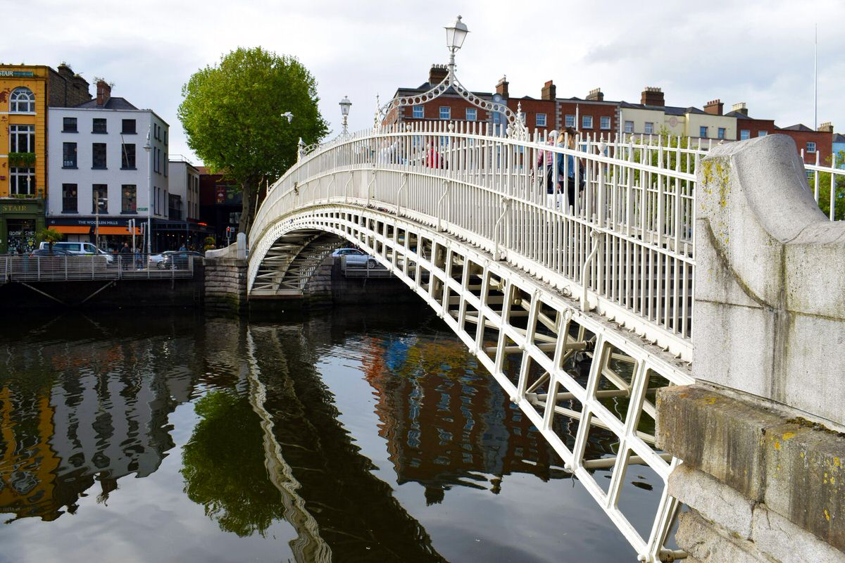 The Ha'Penny Pedestrian Bridge across the River Liffey is over 200 years old.