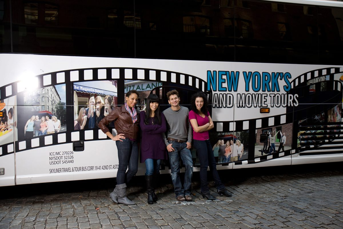 On Location Tour Bus in New York City