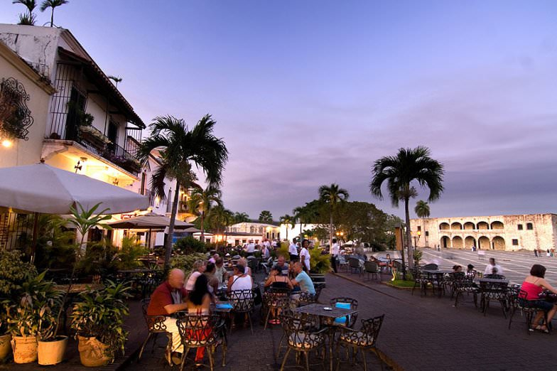 Zona Colonial in Santo Domingo at night