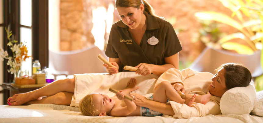 Even a spa day is a baby-friendly affair at Aulani.
