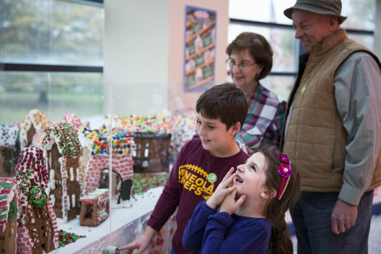 Gingerbread Lane at the New York Hall of Science